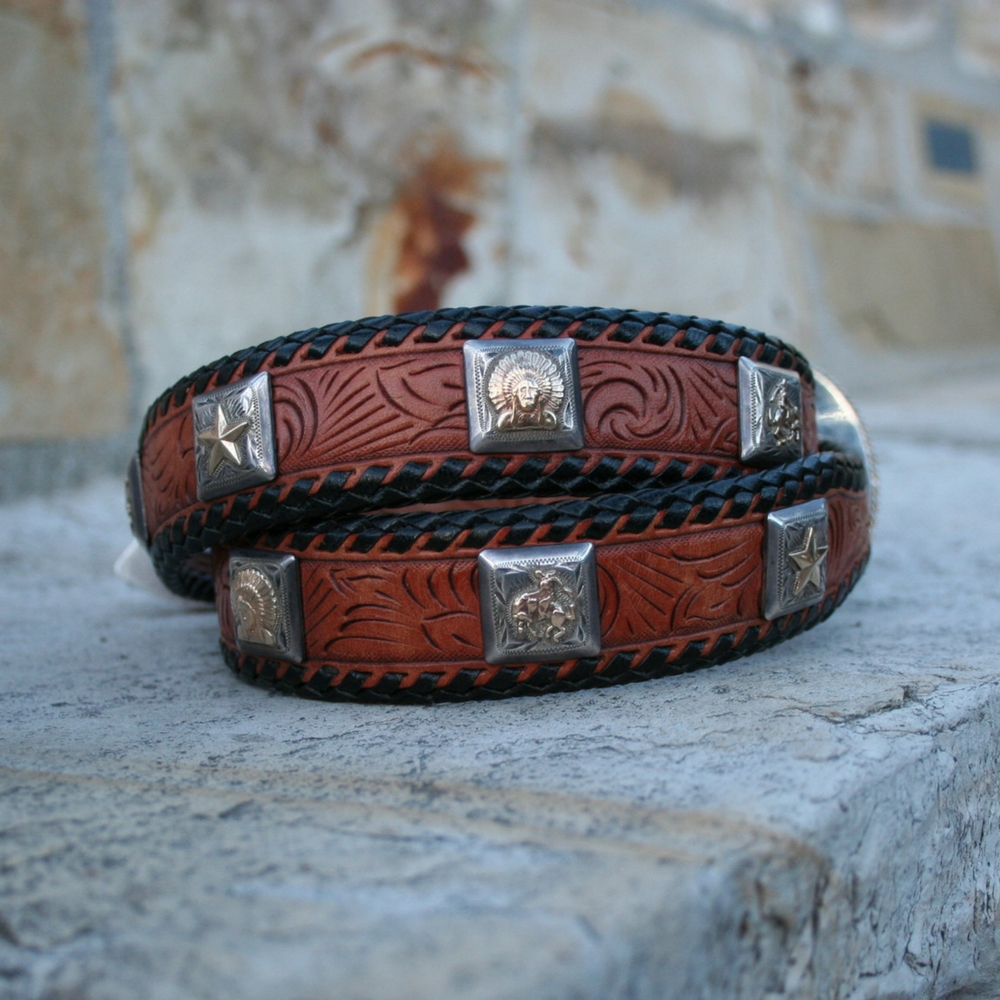 "1 1/4"" TO 1"" SS CONCHO BELT"