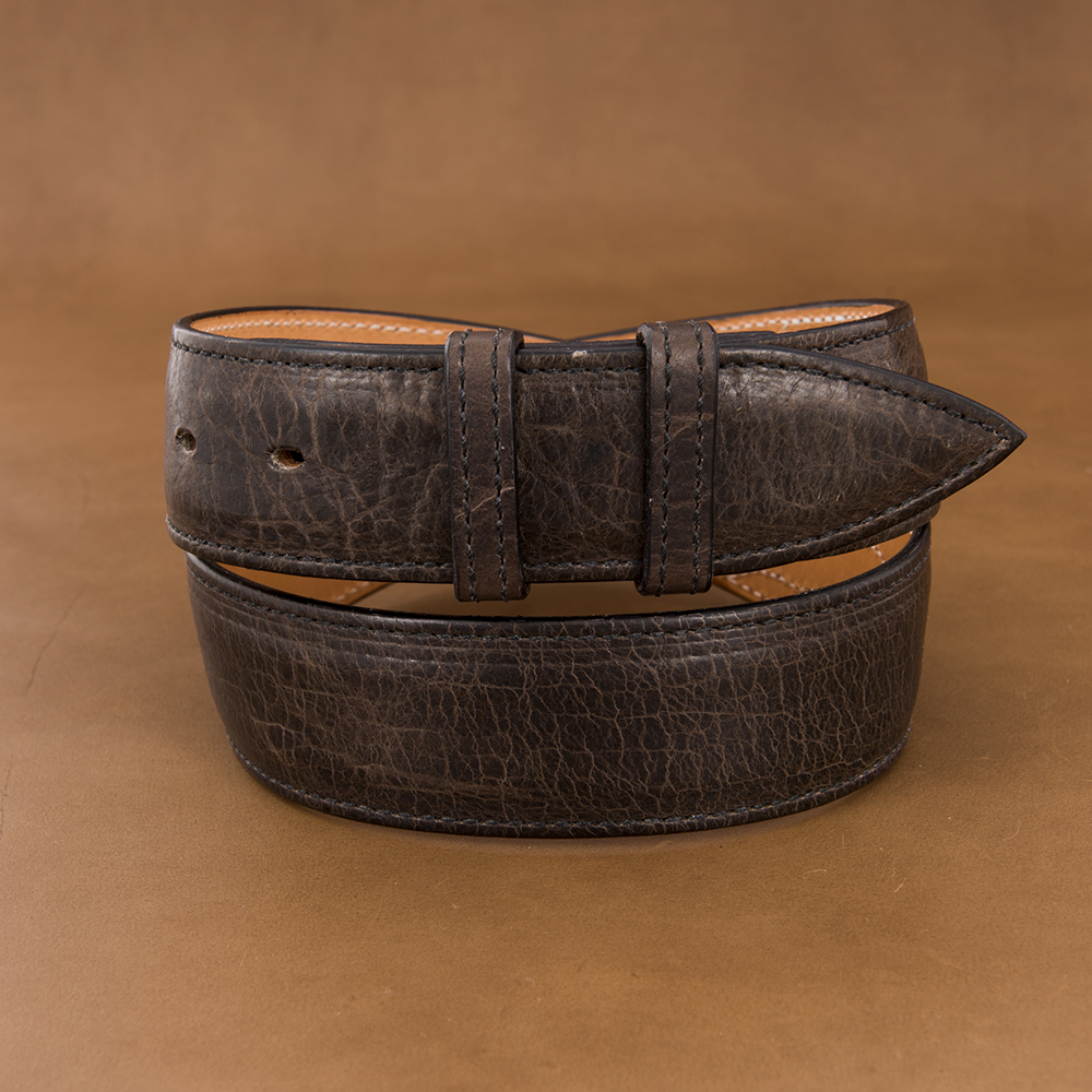 "1 1/2"" GREY BISON BELT W/BILLETS ()"