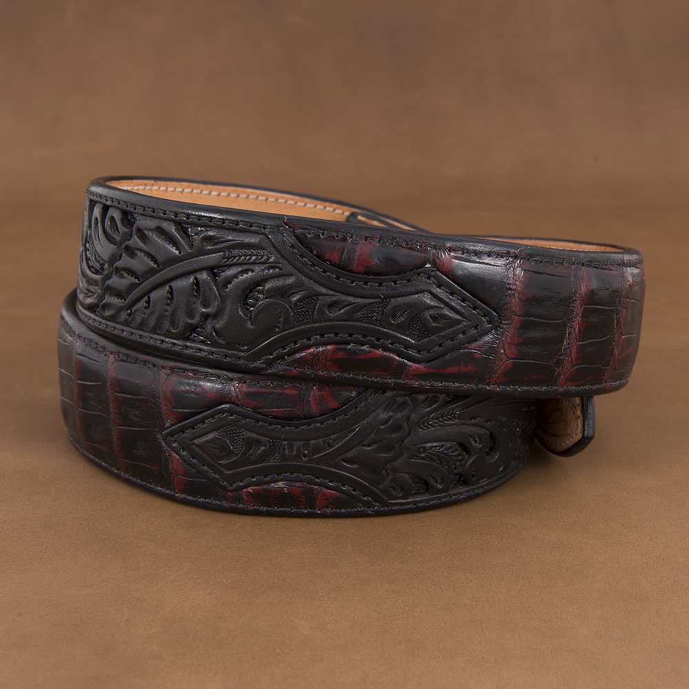 "1 1/2"" BLACK CHERRY CAIMAN W/ BLACK FILIGREE ()"