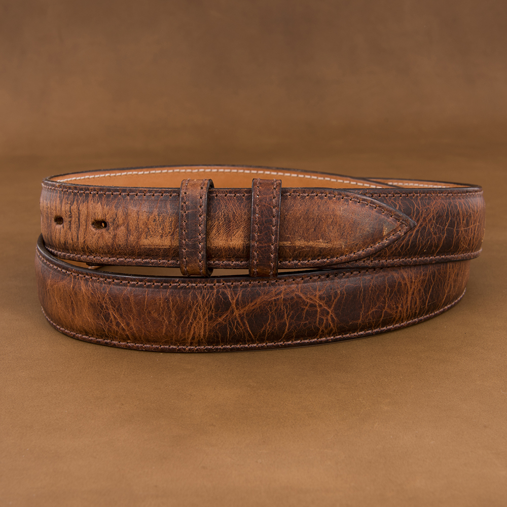 "1 1/4"" WHISKEY BISON BELT"