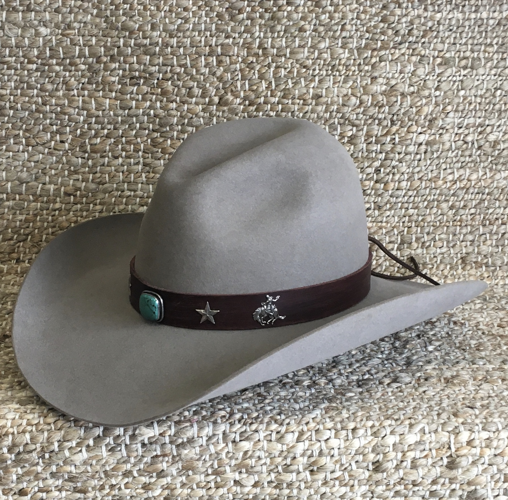 TURQUOISE/FEATHERS/CHIEFS HATBAND