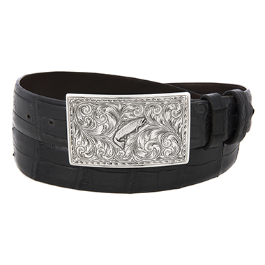SUNSET TRAILS SS TERREL BUCKLE W/TROUT