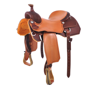 "BURNS SADDLERYâ""¢ RANCH CUTTER SADDLE"