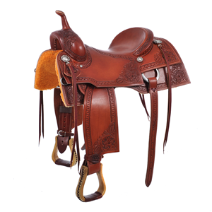 "BURNS SADDLERYâ""¢ CUSTOM CUTTING SADDLE"