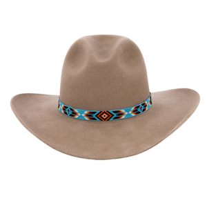 13 Wide Opaque TQ Hatband w/2 Crosses 36 Feathers