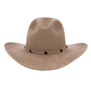Picasso 7 Wide Tan/Brown w/Small Brass Buttons Hatband