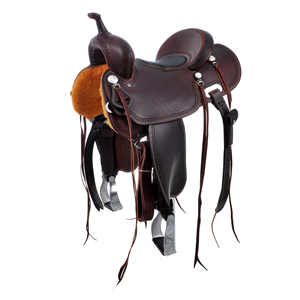 BURNS SADDLERY DARK CHESTNUT TRAIL