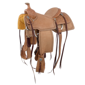 BURNS CUSTOM RUSSET ROPING SADDLE