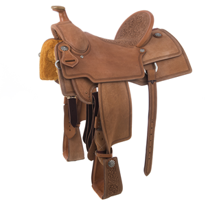 BURNS DOUBLE CUT LINE RANCH ROPER SADDLE