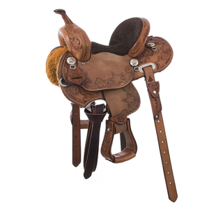 BURNS SADDLERY STAR TOOLED YOUTH SADDLE