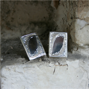 ENGRAVED RECTANGLE CUFF LINK