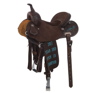 BURNS CUSTOM TROPHY BARREL SADDLE
