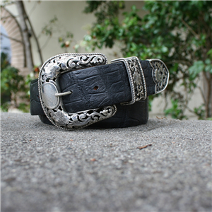 3 PC FILIGREE BUCKLE SET