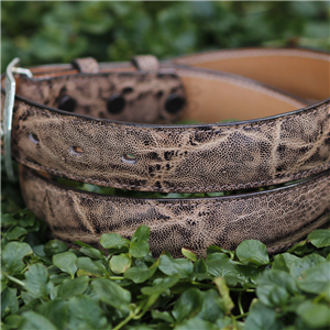 "1 1/2"" VINTAGE PEAT ELEPHANT BELT"