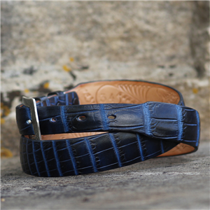 TAPER TWO TONE NAVY NILE BELT
