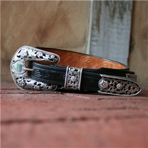 "1"" FILIGREE 3 PIECE BUCKLE SET"