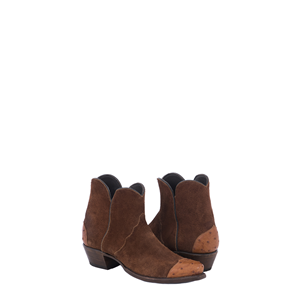 LADIES SHORTY RUST RO COGNAC OSTRICH WING