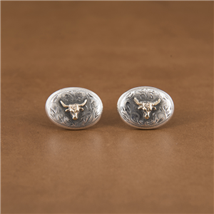 14K GOLD STEER CUFFLINKS