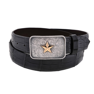 SUNSET TRAILS ALL-STAR WESTERN BUCKLE W/ 14K GOLD