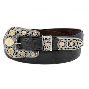 SUNSET TRAILS BIG BEND YG 14K BUCKLE SET