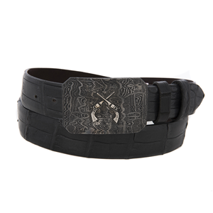 SST DAMASCUS BUCKLE WITH CROSS PISTOLS