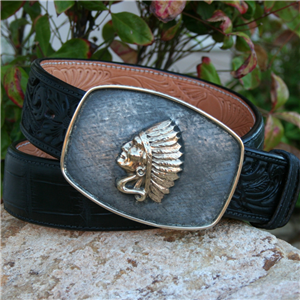 COLT 14K YELLOW GOLD CHIEF WESTERN BUCKLE