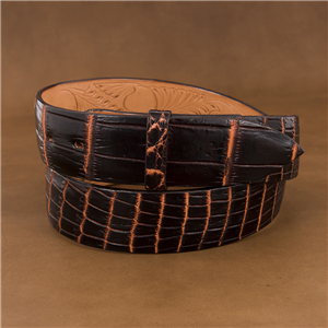 "1 1/2"" LIVER CHESTNUT NILE BELT"
