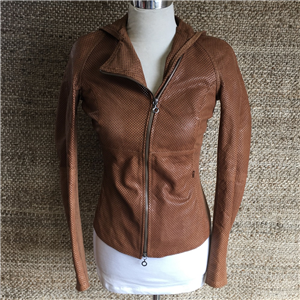 WOMEN'S PERFERATED JACKET WITH HOOD