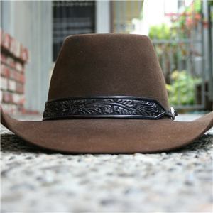 TAPERED BLACK TOOLED HATBAND