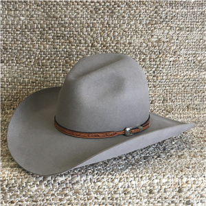 WILD ROSE TOOLED HAT BAND 3/8-1/4 NAT