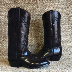 MEN'S LUCCHESE BROWN GOAT BOOT