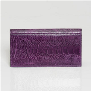 LADIES PREMIER PURPLE OSTRICH WALLET