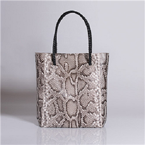 NATURAL ANACONDA TOTE