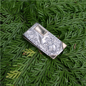 ENGRAVED MONEY CLIP WITH 14K