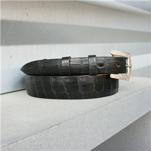 TAPER ALLIGATOR BELLY MATTE BLACK BELT