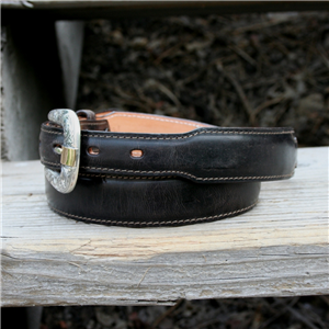 TAPERED CHOCOLATE MADDOG GOAT BELT