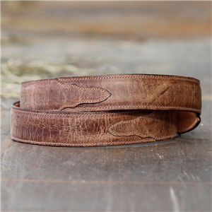 "1 1/4"" TAN MADDOG GOAT BELT W/BILLETS"
