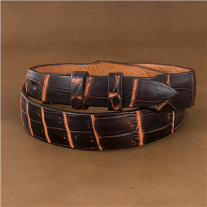 "1 1/4"" -1"" LIVER CHESTNUT NILE BELT"