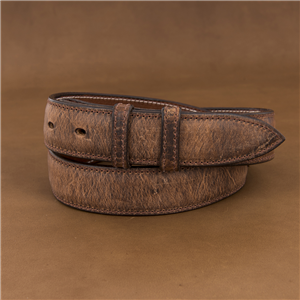 "1 1/4"" BISON COGNAC BELT W/BILLETS"