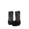 MEN'S BLACK SUEDE/GREY BISON COWBOY BOOT