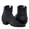 Ladies Shorty Black Ostrich Black Caiman WT HF Collar Full Black Buckstitch