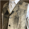 MEN'S BURNS 1876 TAN VEST WITH LAPEL