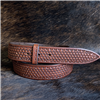 "BURNS 1 1/2"" CHOCOLATE BASKET STAMPED BELT ()"